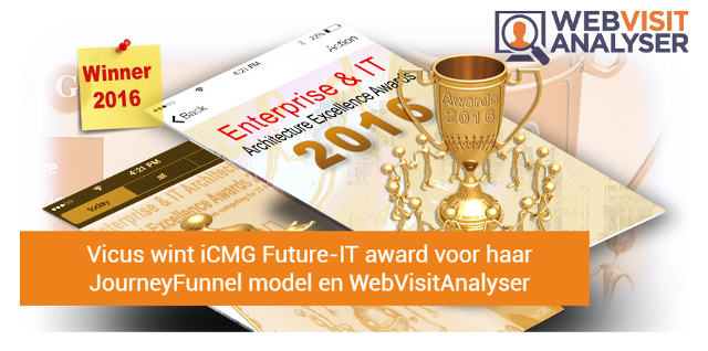 Vicus wint prestigieuze internationale award met JourneyFunnel Model en WebVisitAnalyser